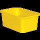 Yellow Small Plastic Storage Bin 6 Pack Alternate Image A