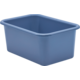 Slate Blue Small Plastic Storage Bin 6 Pack Alternate Image A