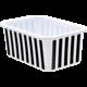 Black and White Stripes Small Plastic Storage Bin 6 Pack Alternate Image A