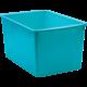 Teal Plastic Multi-Purpose Bin 6 Pack Alternate Image A