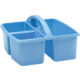 Light Blue Plastic Storage Caddy 6 Pack Alternate Image B