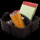 Black Plastic Storage Caddies 6-Pack Alternate Image A