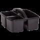 Black Plastic Storage Caddies 6-Pack Alternate Image B