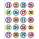 Polka Dots Numbers Stickers Alternate Image B