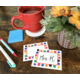 Colorful Paw Prints Name Tags/Labels Alternate Image A