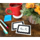 Black Polka Dots 2 Name Tags/Labels Alternate Image A