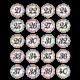 Confetti Numbers Stickers Alternate Image B