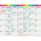 Colorful Calendar Write-On/Wipe-Off Chart Alternate Image A