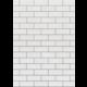 White Subway Tile Better Than Paper Bulletin Board Roll Alternate Image A