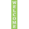 TCR4854 Lime Polka Dots Welcome Banner