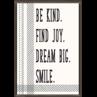 TCR7995 Be Kind. Find Joy. Dream Big. Smile. Positive Poster