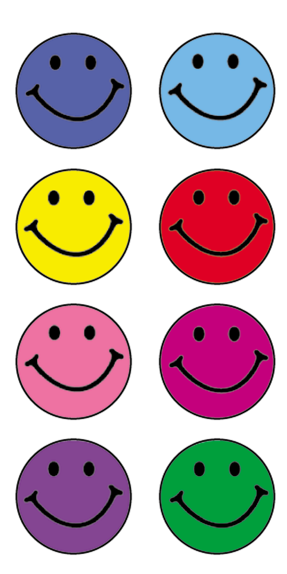 Happy faces mini stickers tcr1236 teacher created resources