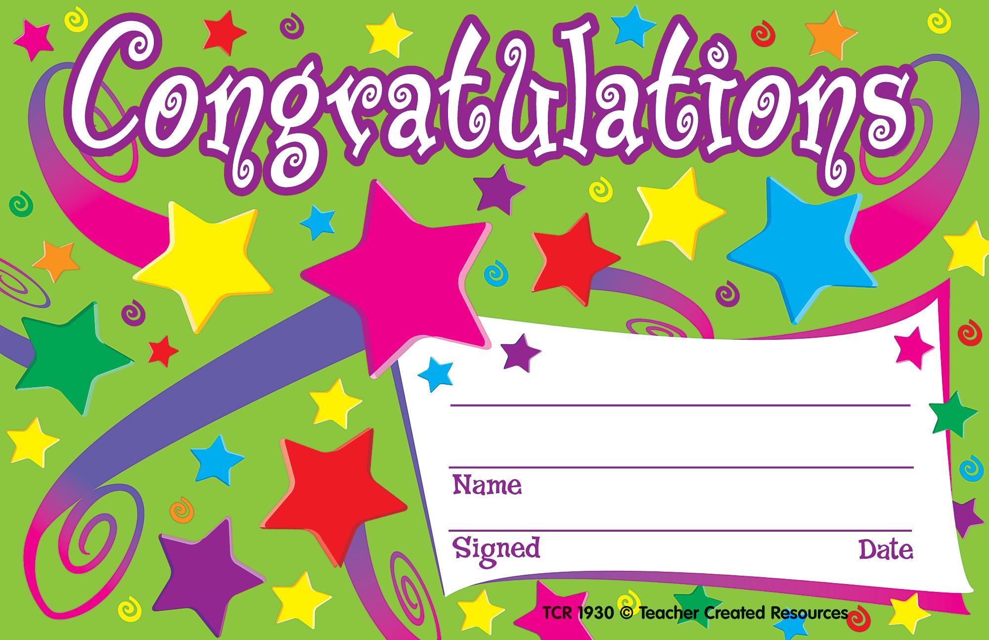 congrats certificates