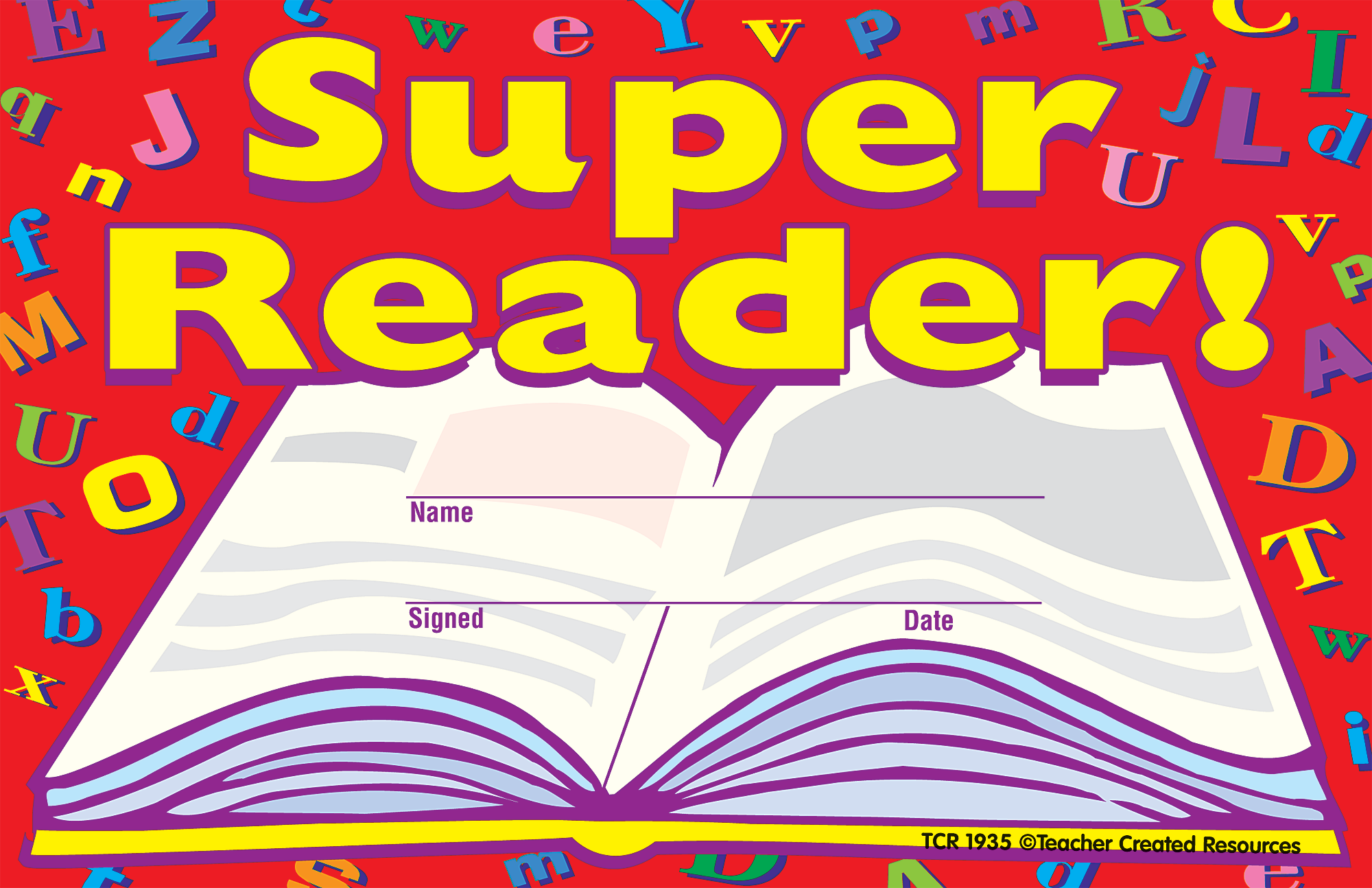 Super reader awards tcr1935 teacher created resources 1betcityfo Image collections