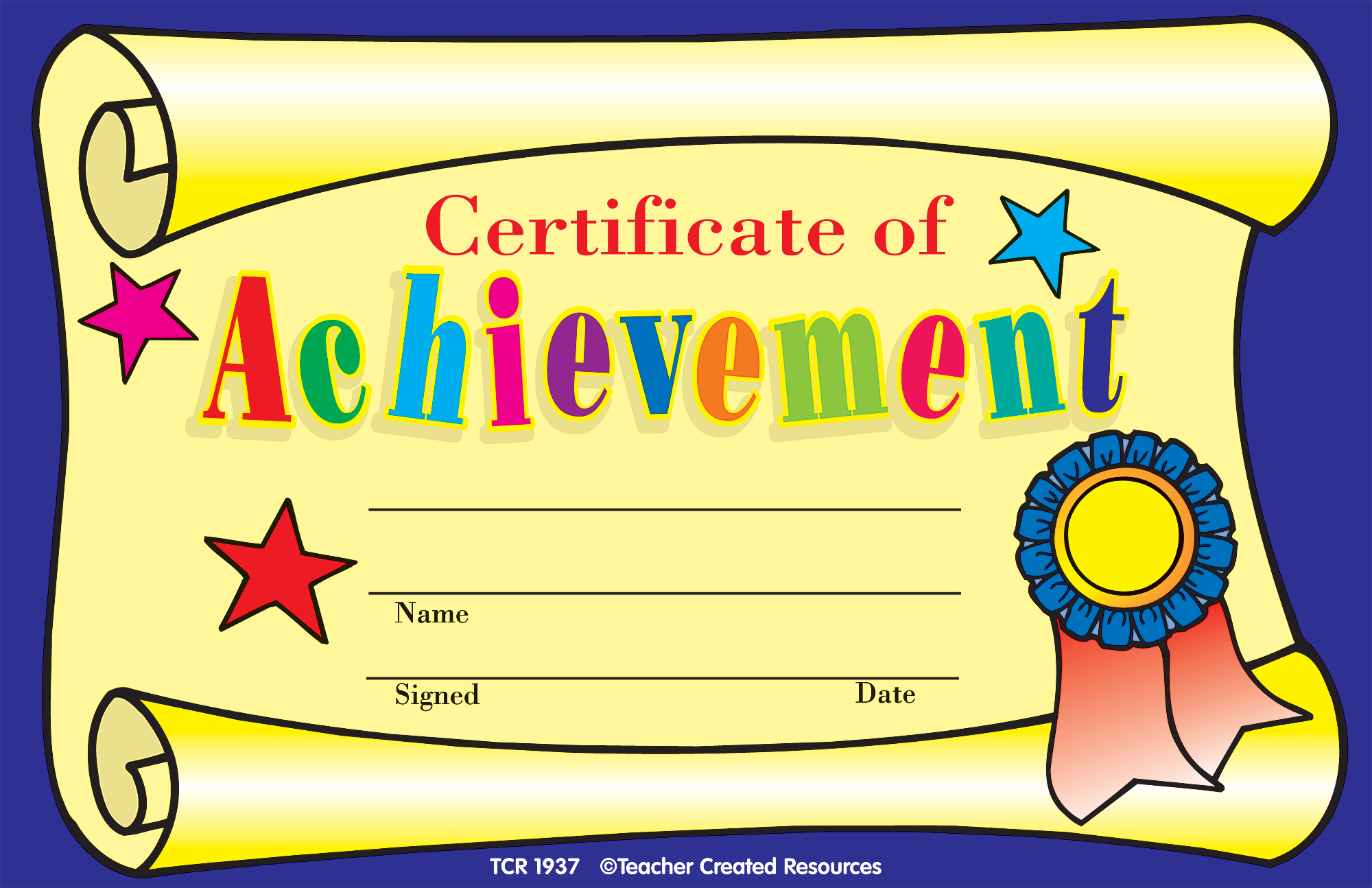 childrens certificate  Certificate of Achievement Awards - TCR1937 | Teacher Created ...
