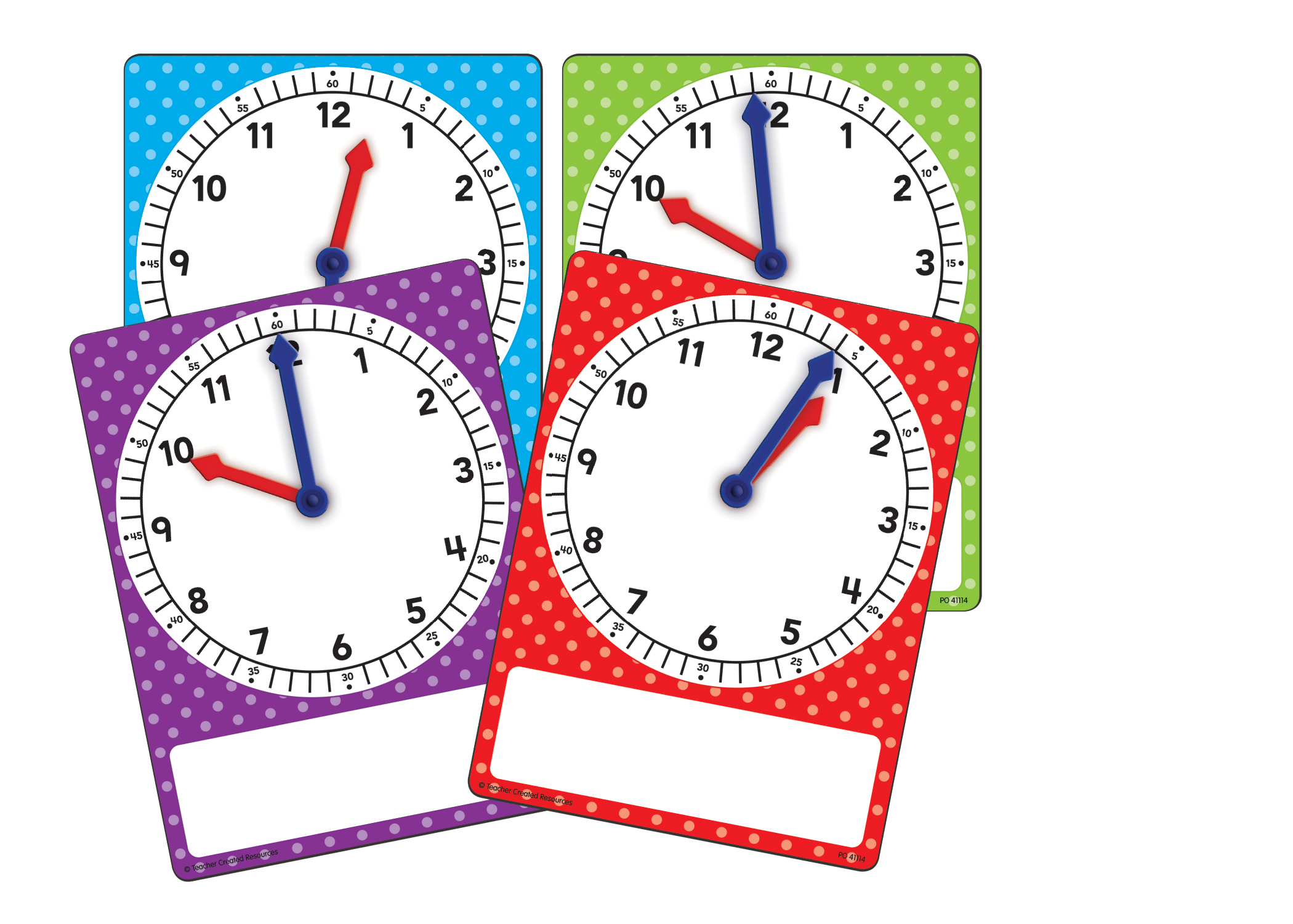 magnetic foam geared clocks  small 4-pack