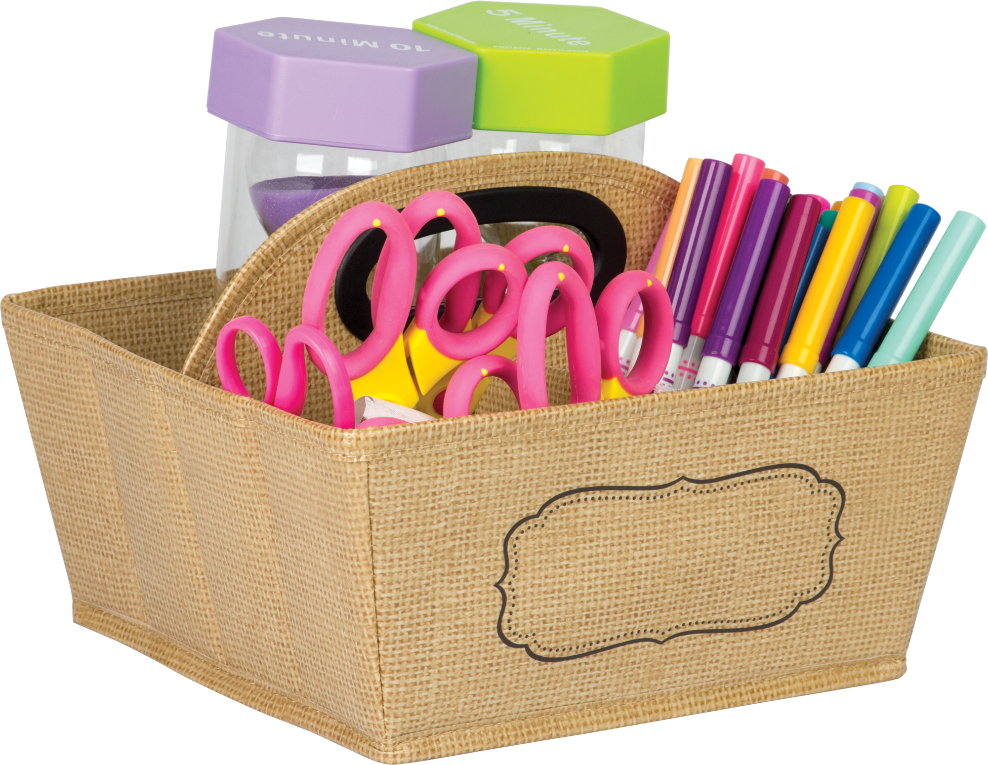 Burlap Storage Caddy Tcr20836 Teacher Created Resources