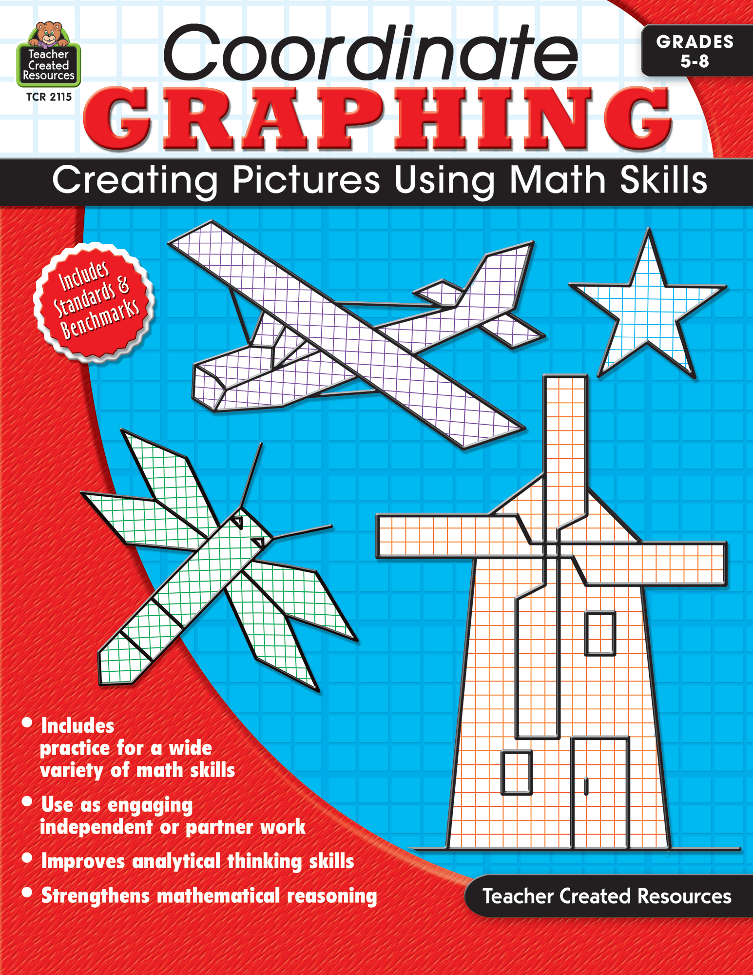 Worksheets Teacher Created Materials Inc Worksheets coordinate graphing grade 5 8 tcr2115 teacher created resources