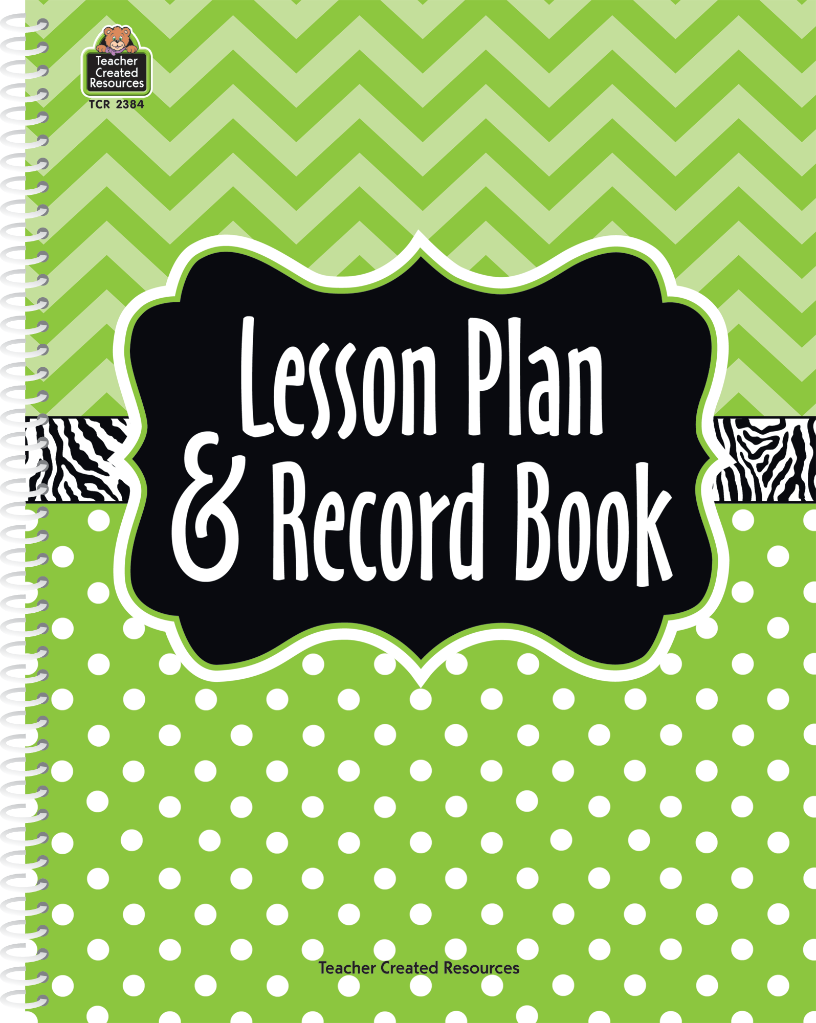 Lime Chevrons And Dots Lesson Plan Amp Record Book Tcr2384