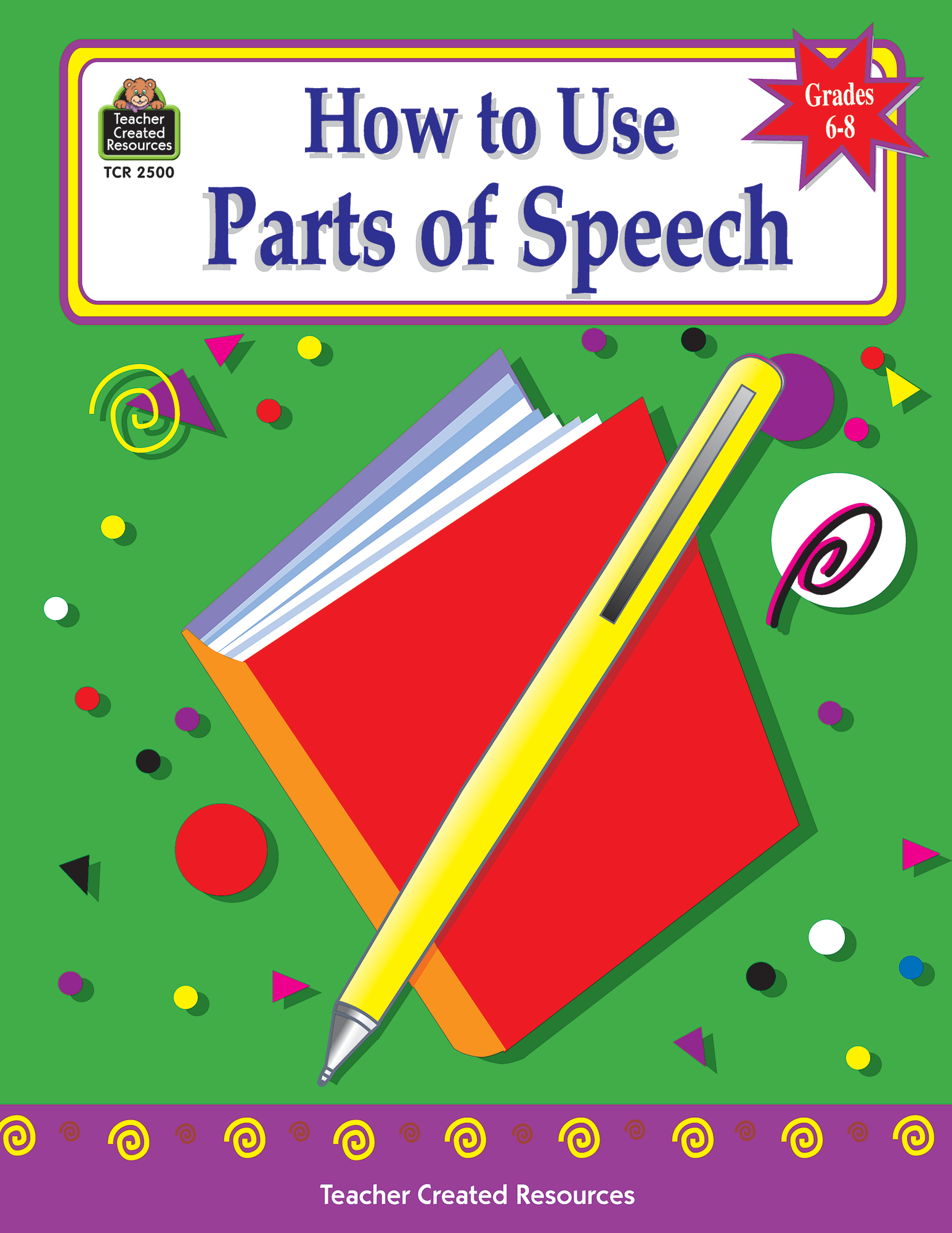 how to use parts of speech  grades 6-8