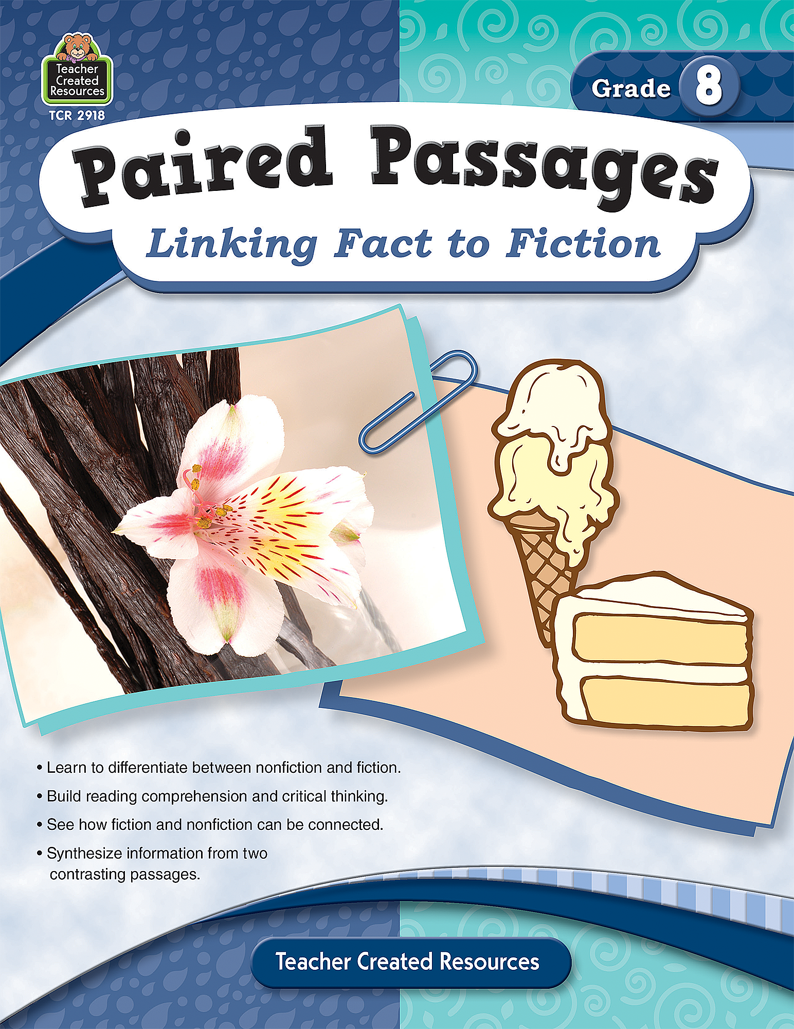 Paired Passages Linking Fact to Fiction Grade 8 TCR2918 – Teacher Created Resources Worksheets