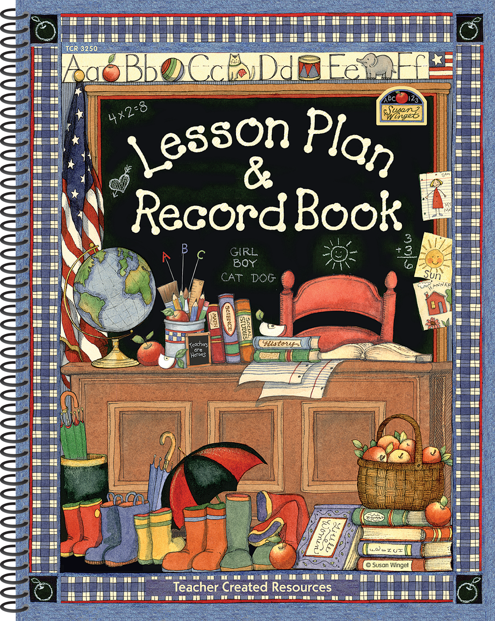 Classroom Decor For Kindergarten ~ Lesson plan record book from susan winget tcr