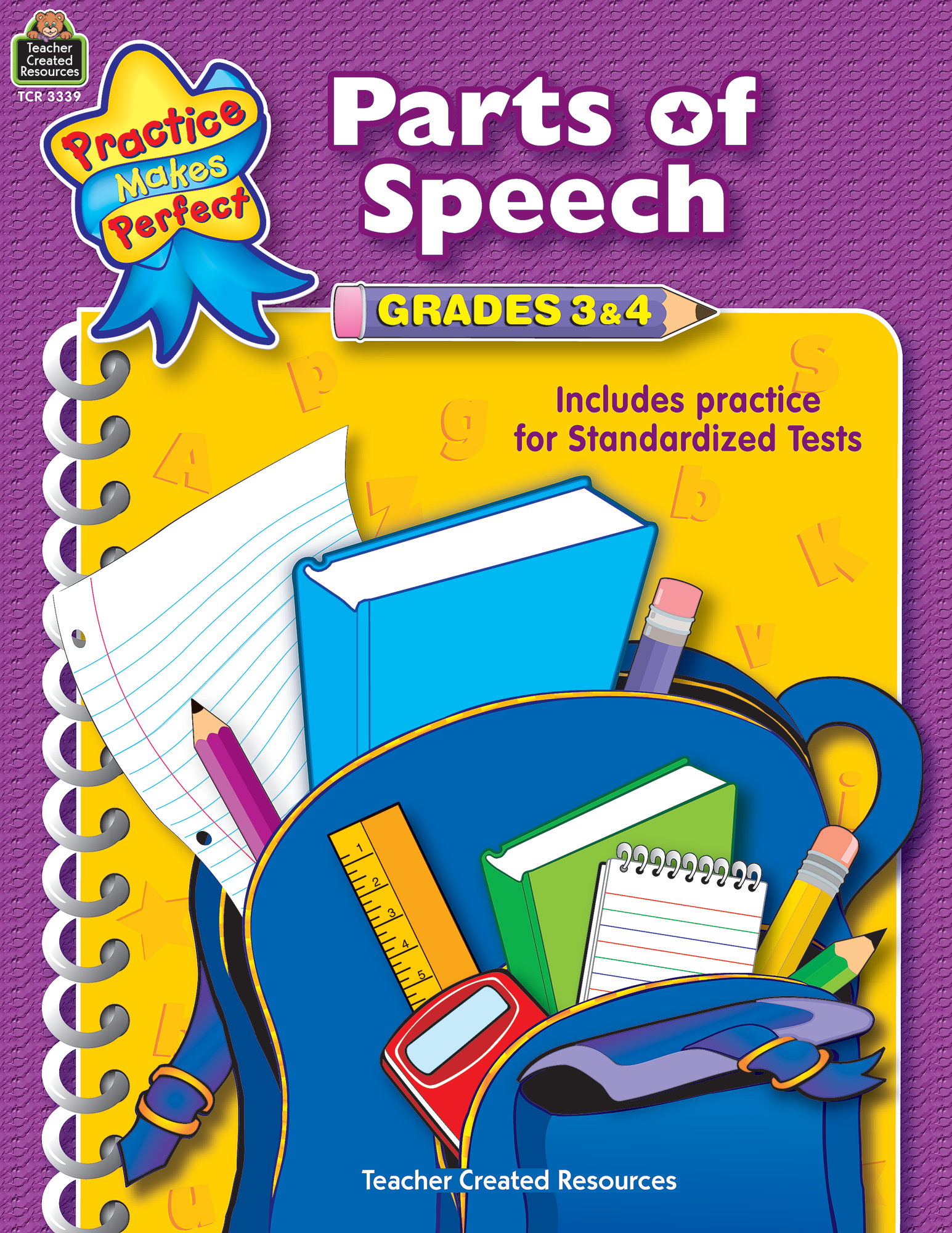 Parts of Speech Grades 34 TCR3339 – Teacher Created Resources Worksheets
