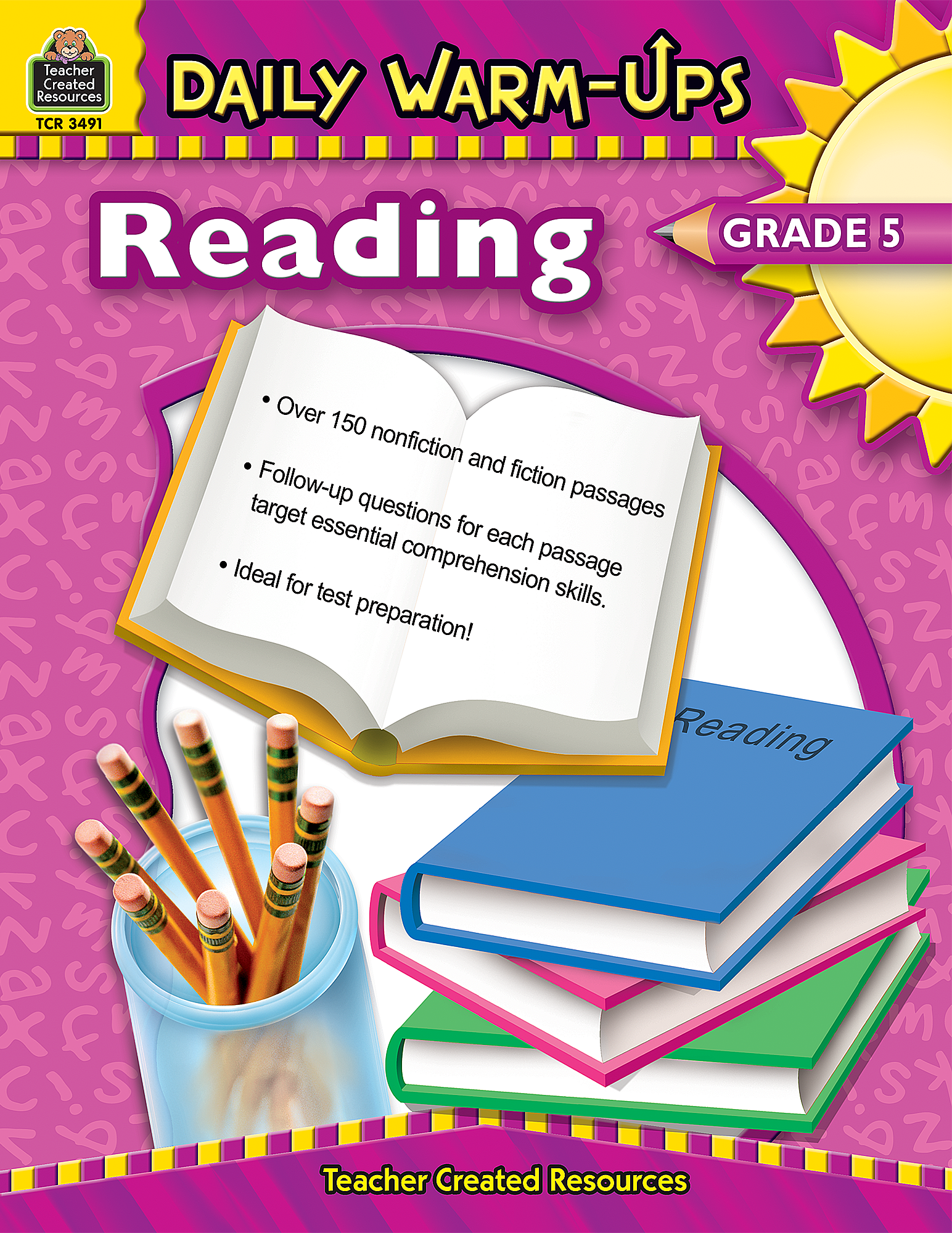 Worksheets Teacher Created Materials Inc Worksheets daily warm ups reading grade 5 tcr3491 teacher created resources