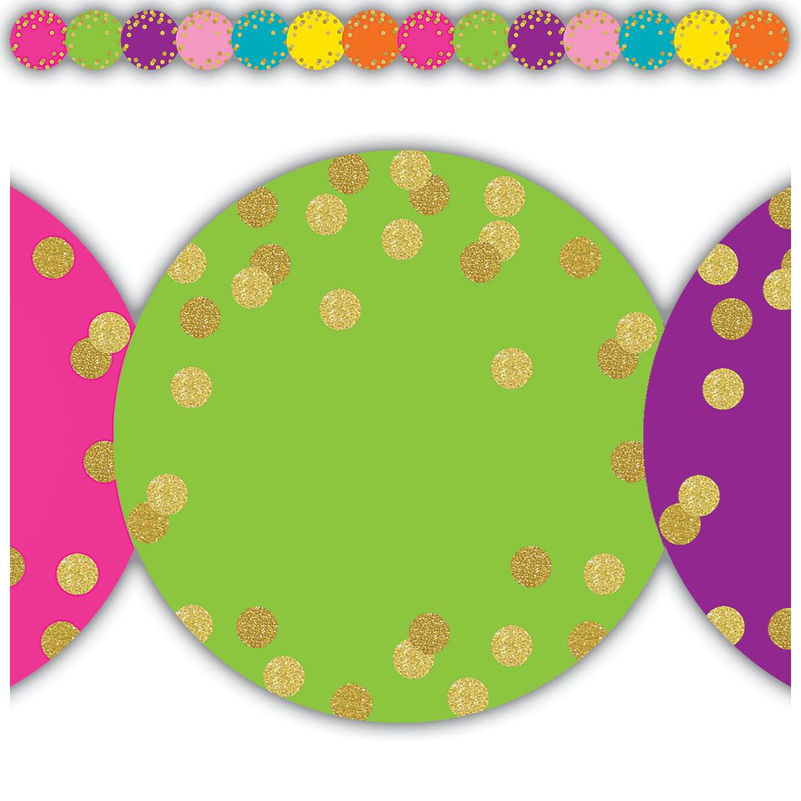 Confetti Circles Die Cut Border Trim Tcr3571 Teacher