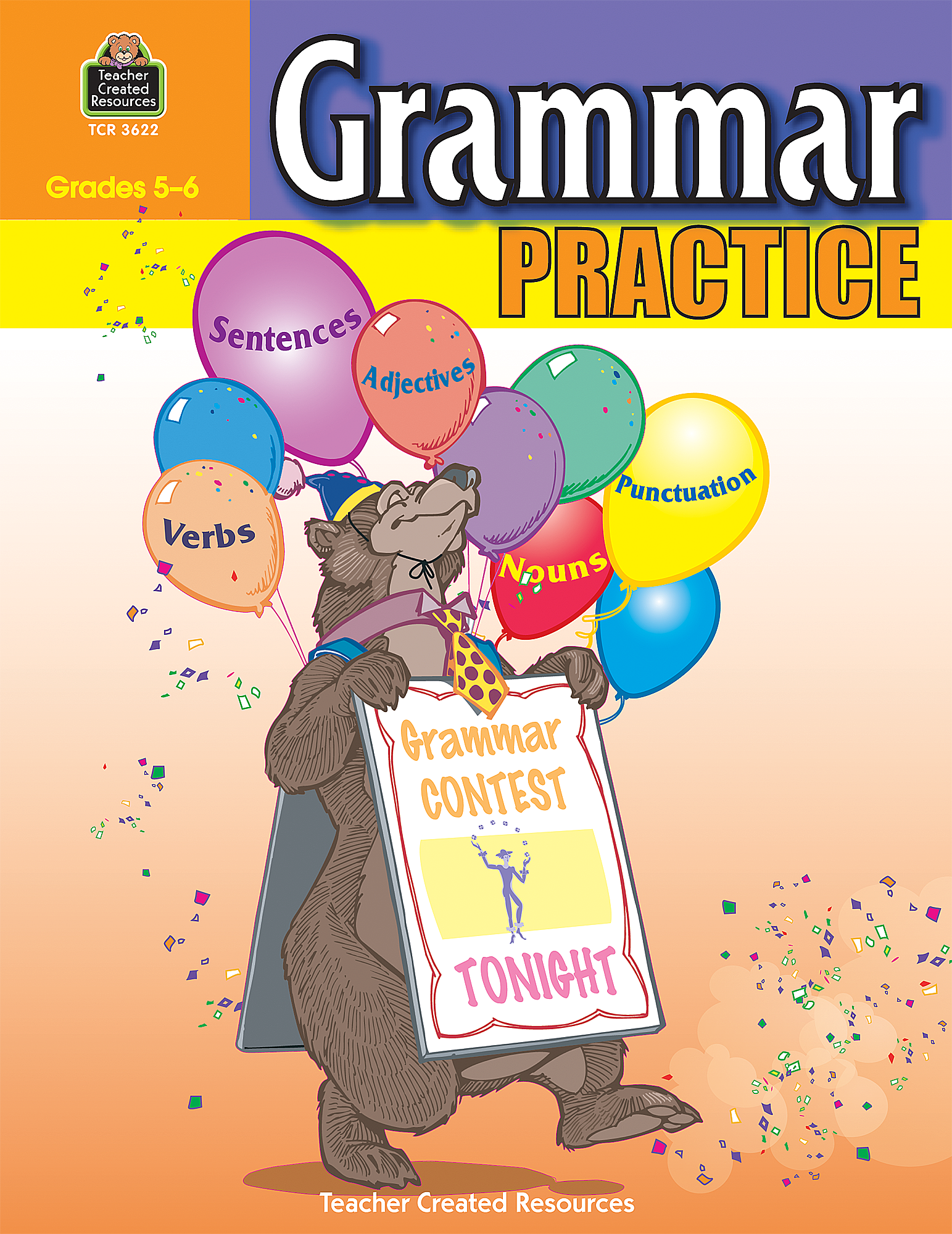 Grammar practice for grades 5 6 tcr3622 teacher created resources sciox Gallery