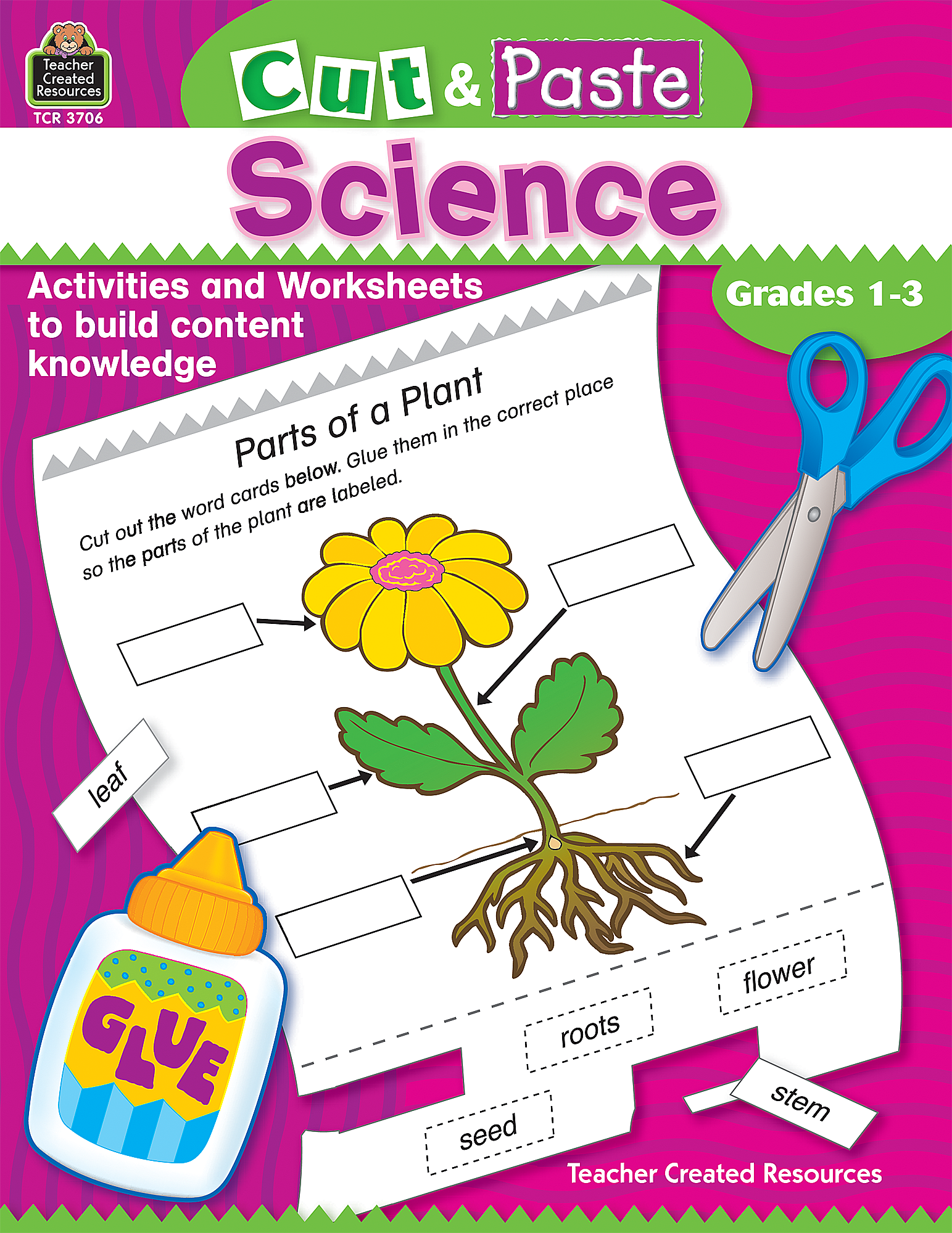 Worksheets Teacher Created Materials Inc Worksheets cut and paste science tcr3706 teacher created resources
