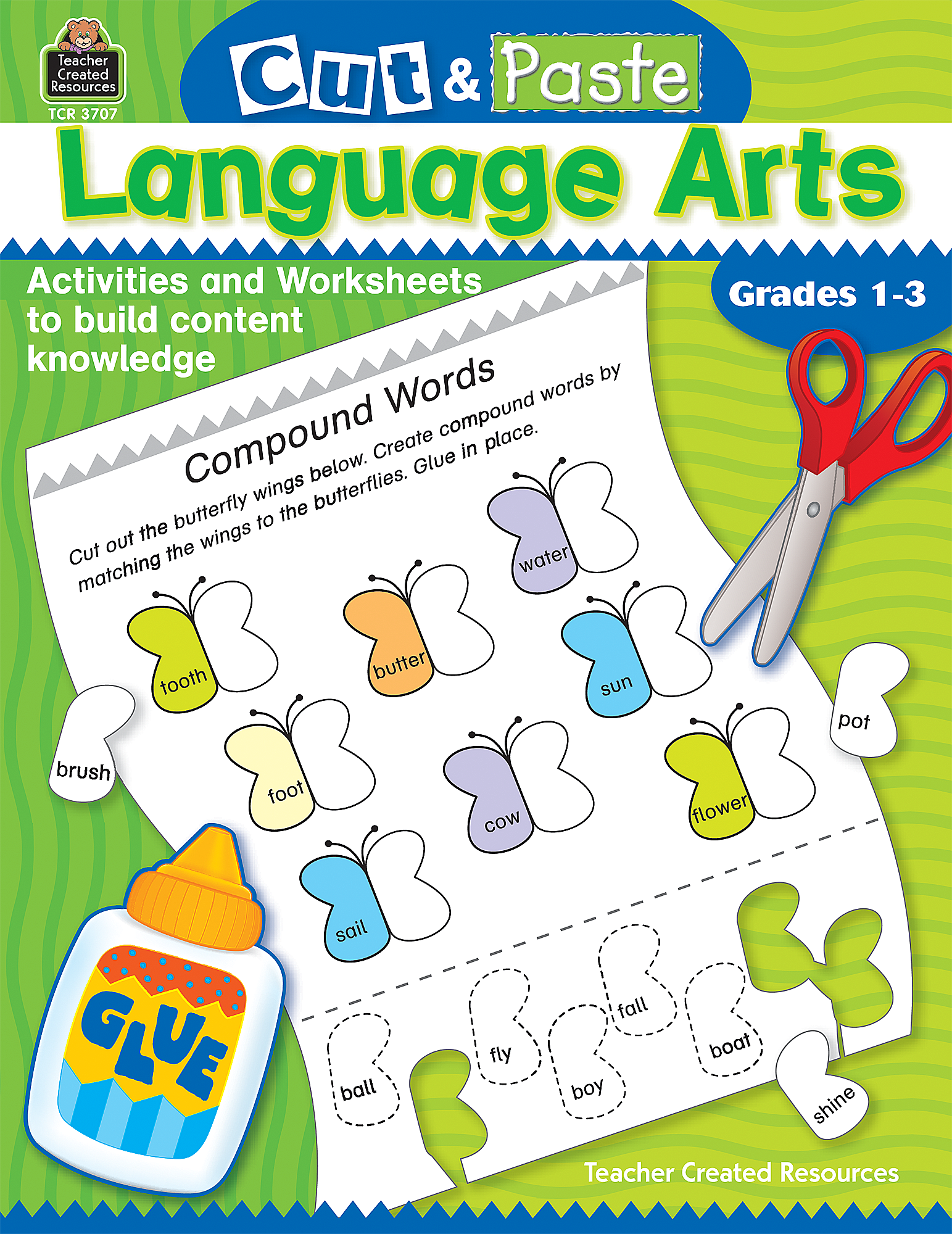Cut and Paste Language Arts TCR3707 – Teacher Created Resources Worksheets
