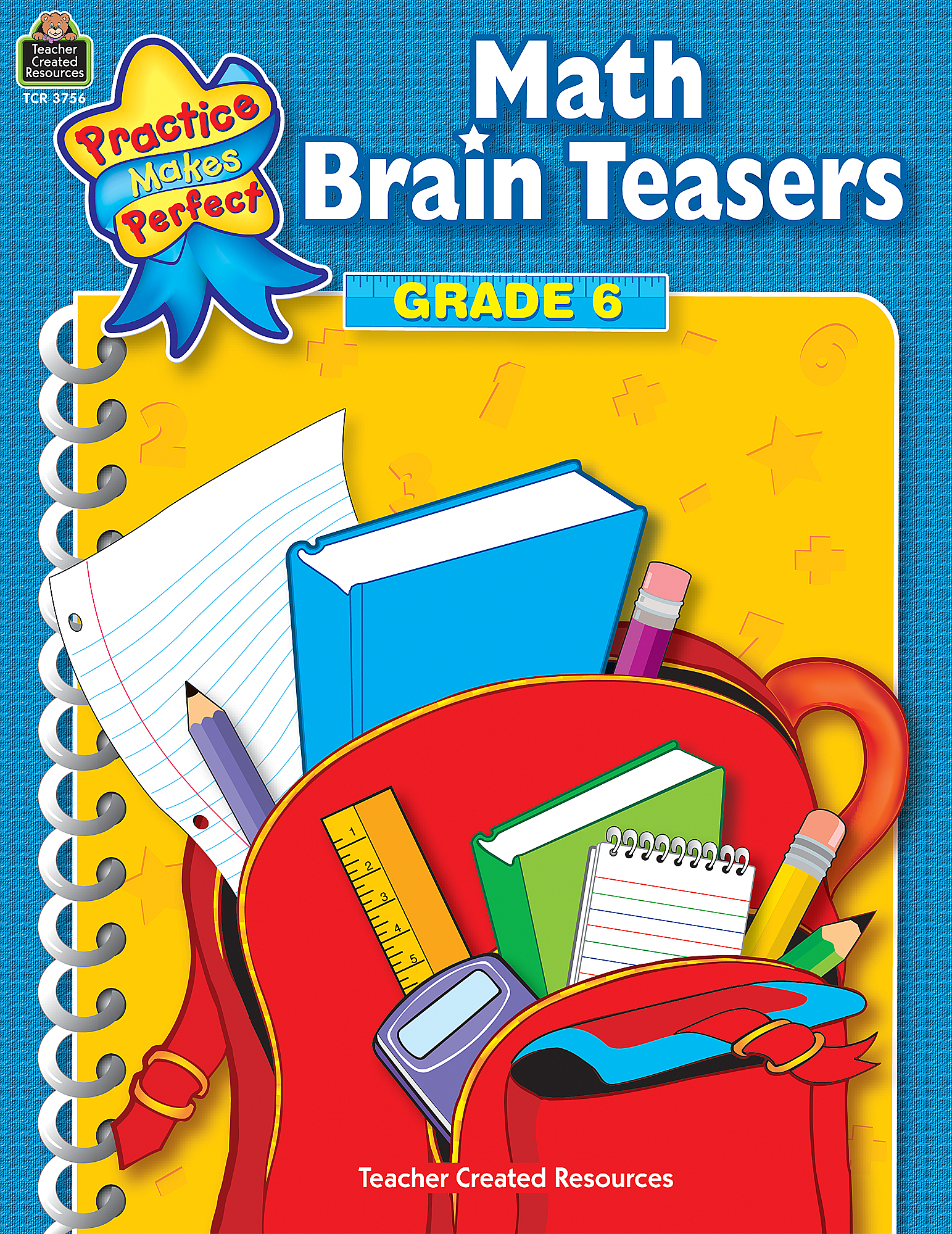 math brain teasers grade 6 tcr3756 teacher created resources. Black Bedroom Furniture Sets. Home Design Ideas