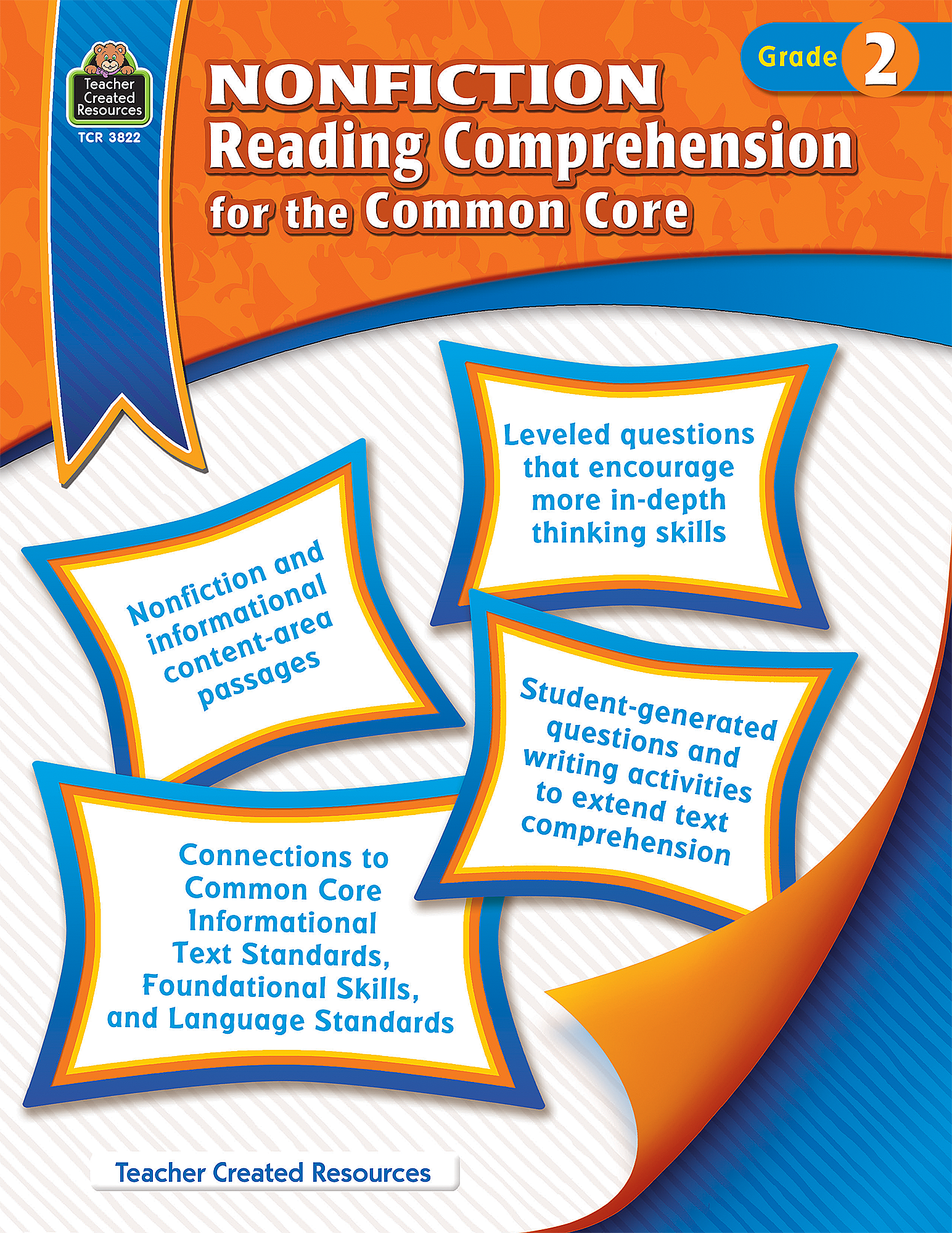 nonfiction reading comprehension for the common core grade  nonfiction reading comprehension for the common core grade 2 tcr3822 teacher created resources