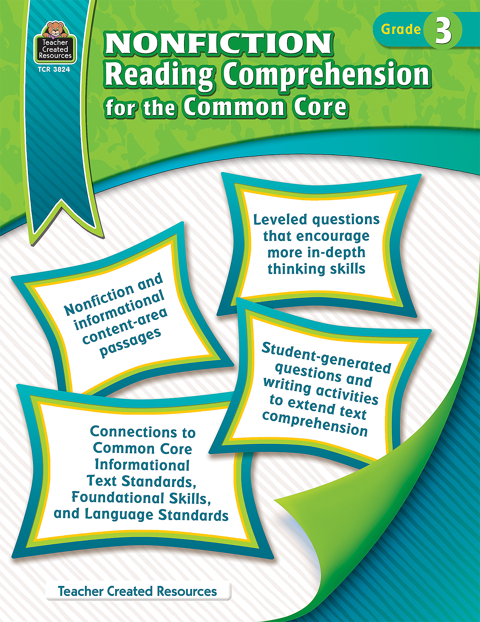 worksheet Common Core Writing Worksheets nonfiction reading comprehension for the common core grade 3 tcr3824 teacher created resources