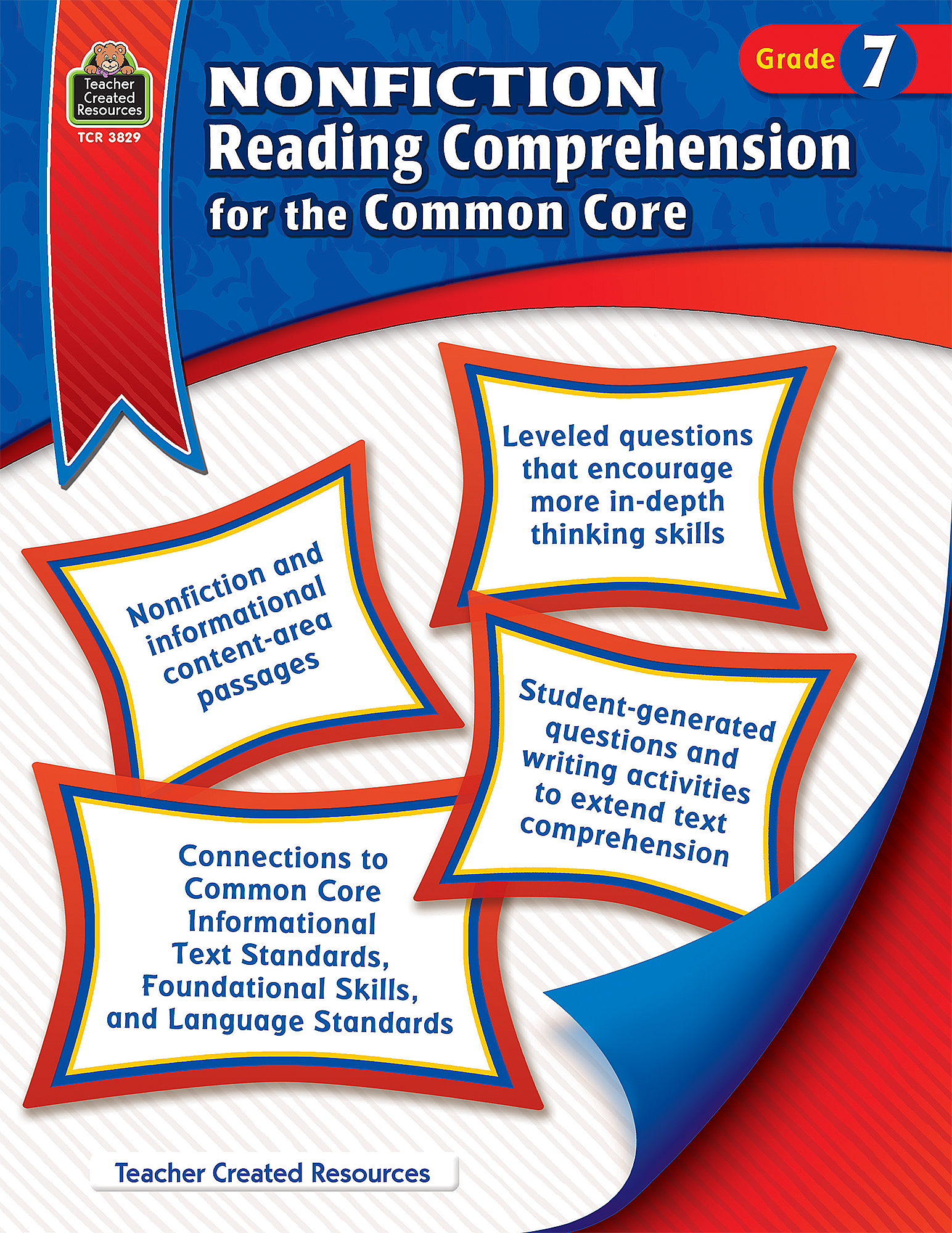 worksheet Common Core Reading Comprehension Worksheets 4th Grade nonfiction reading comprehension for the common core grade 7 tcr3829 teacher created resources