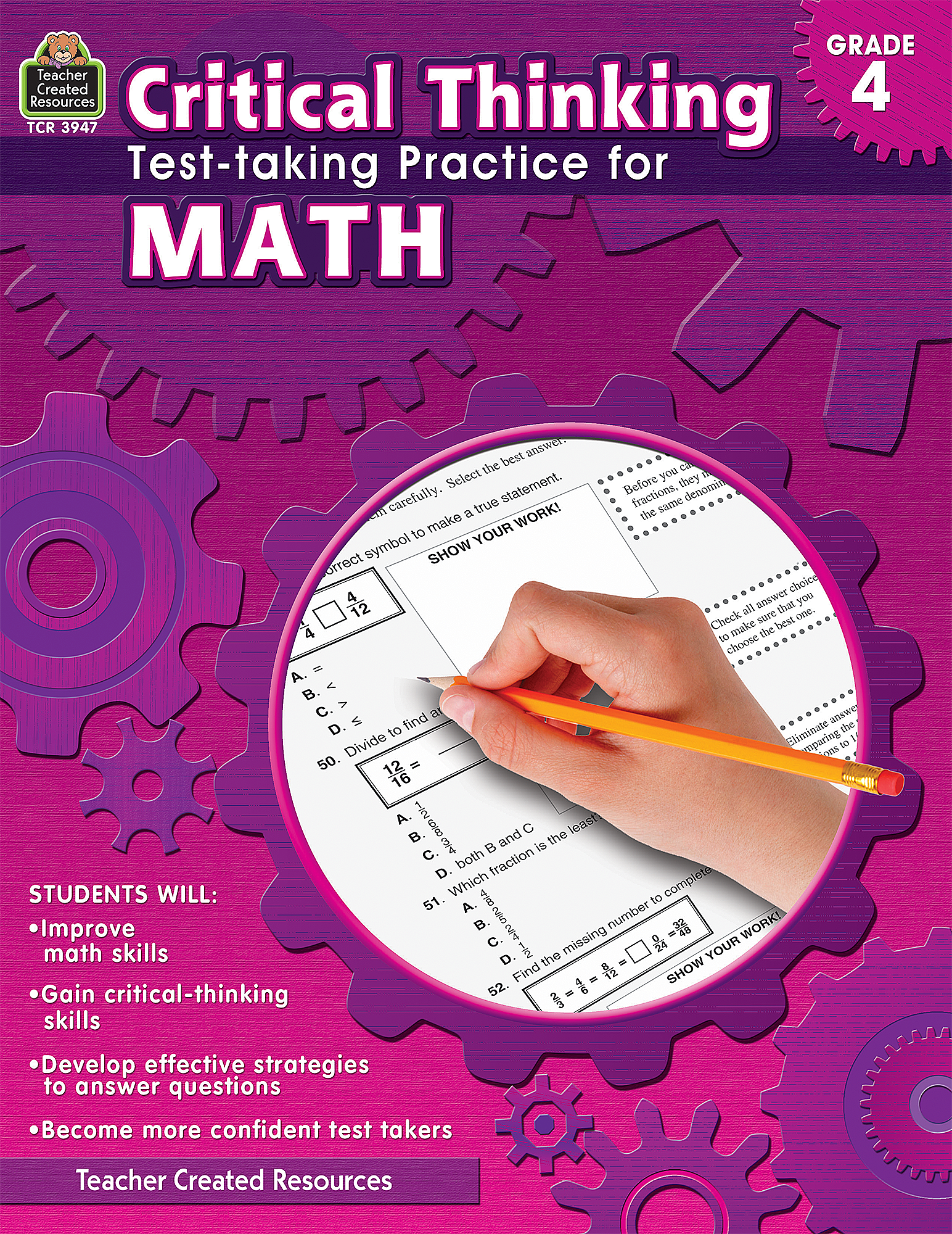 Critical Thinking: Test-taking Practice for Math Grade 4 - TCR3947 ...