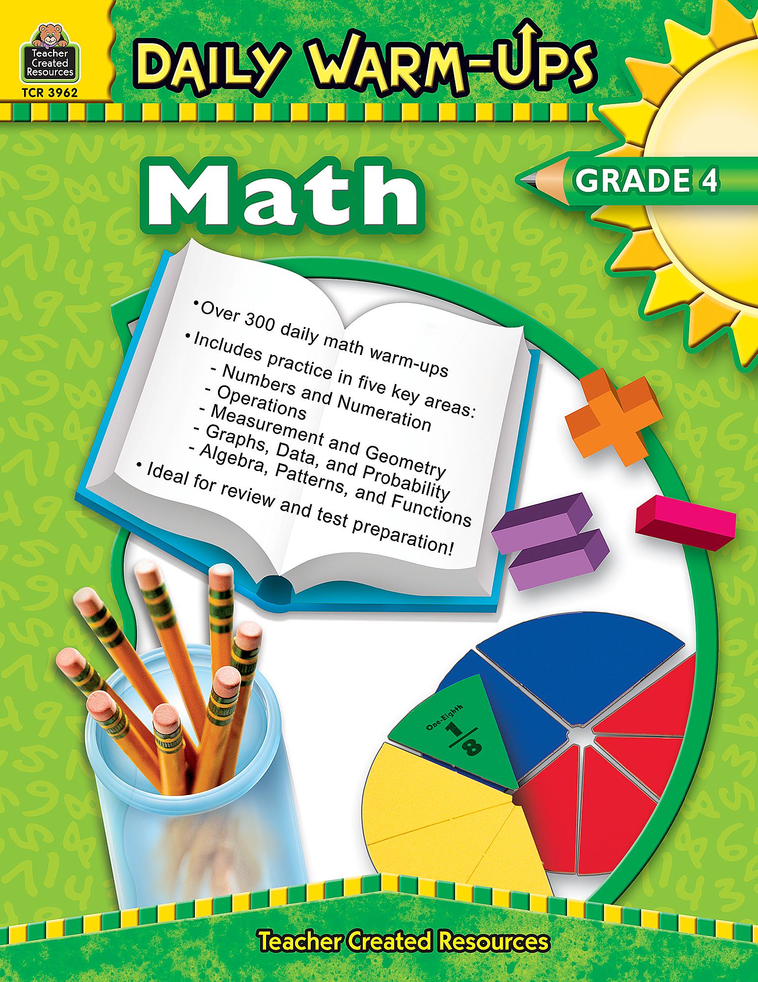 Daily Warm-Ups: Math, Grade 4 - TCR3962 | Teacher Created Resources