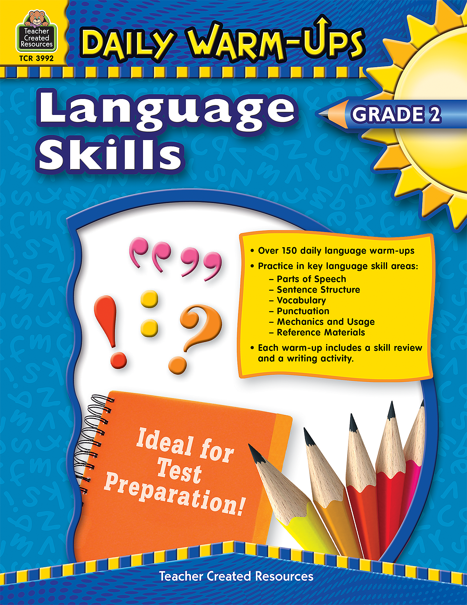 Daily WarmUps Language Skills Grade 2 TCR3992 – Teacher Created Resources Worksheets