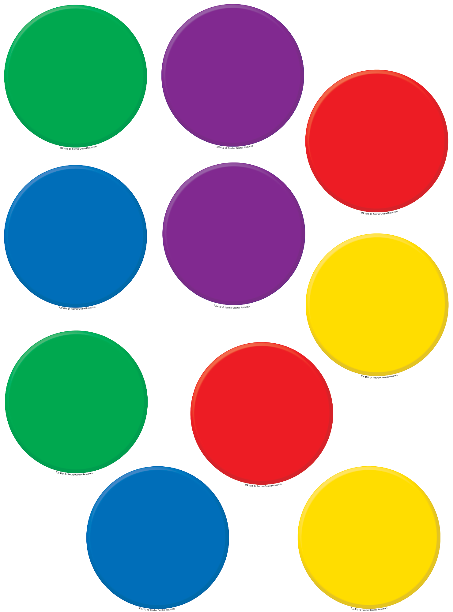 colorful circles accents