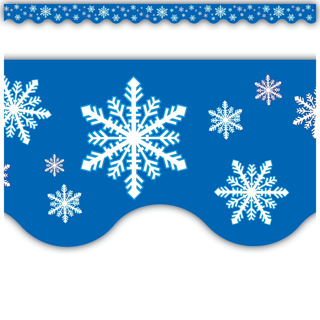 Printable Classroom Winter Decorations ~ Snowflakes scalloped border trim tcr teacher