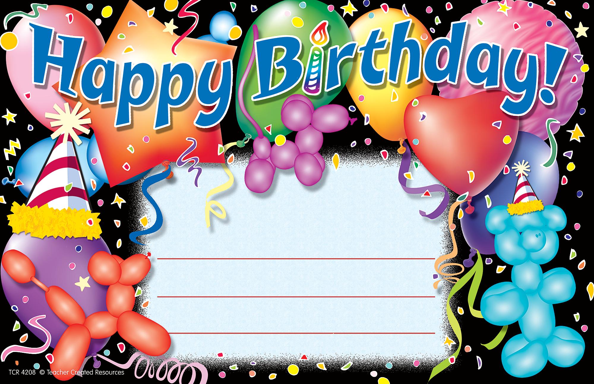 Happy Birthday 3 Awards Tcr4208 Teacher Created Resources