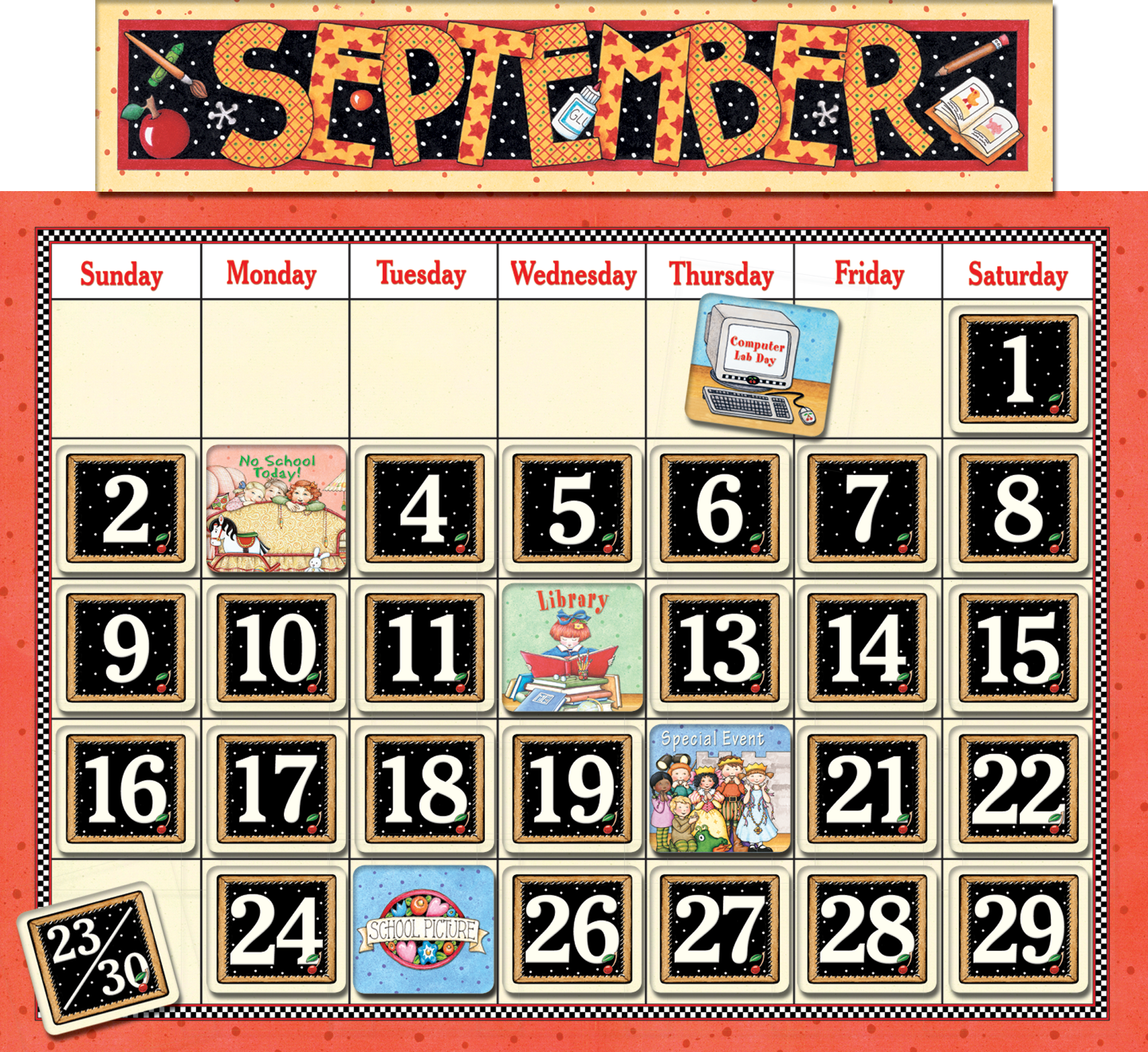 Calendar Board Printables : Classroom calendar bulletin board from mary engelbreit