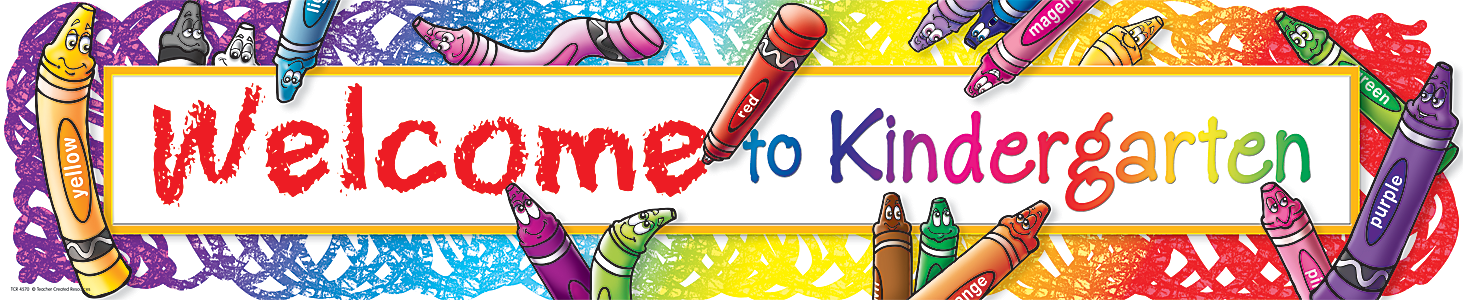 Welcome to Kindergarten Banner - TCR4570 | Teacher Created Resources