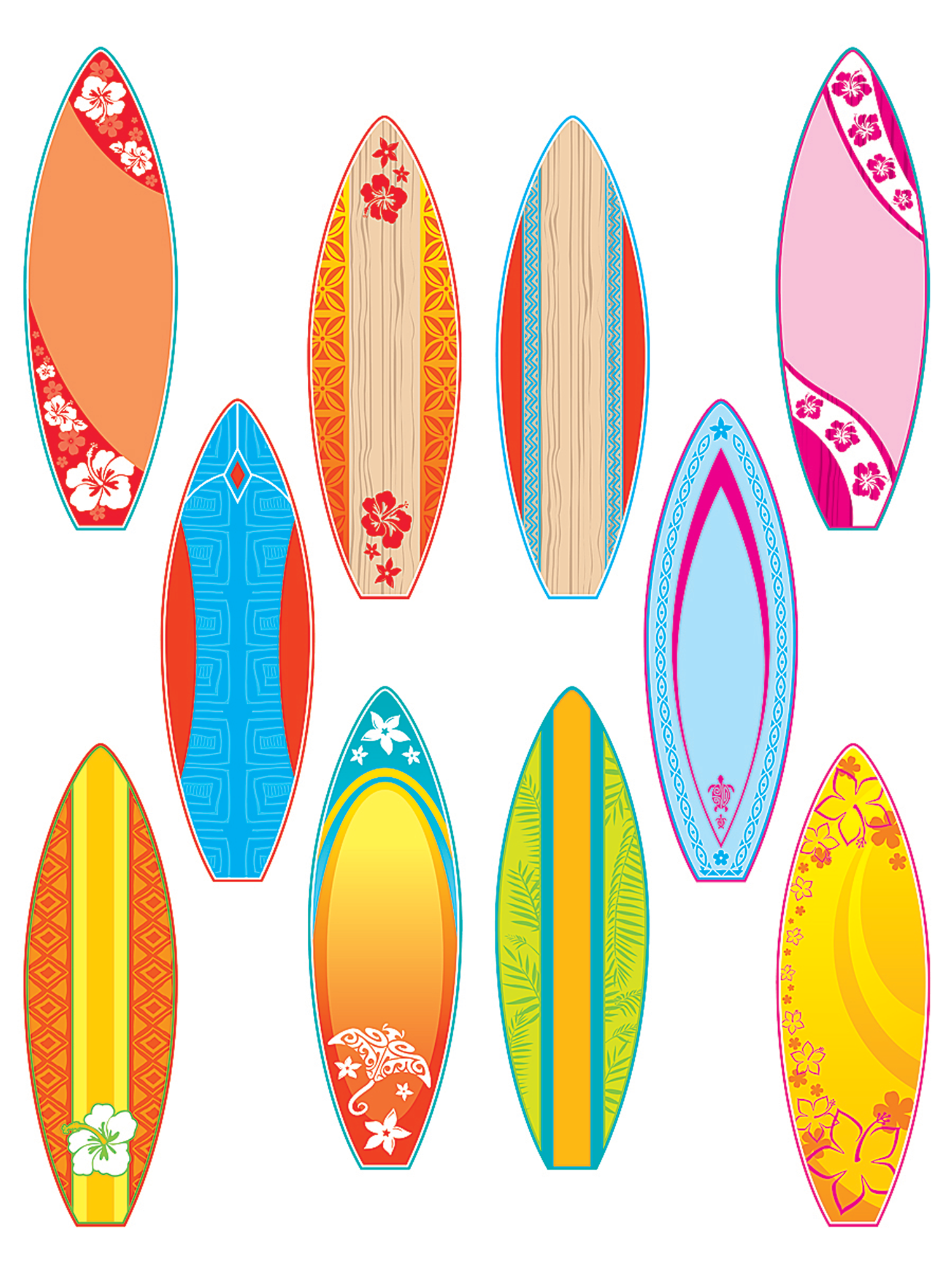 Surfboards accents tcr4586 teacher created resources for Skimboard template