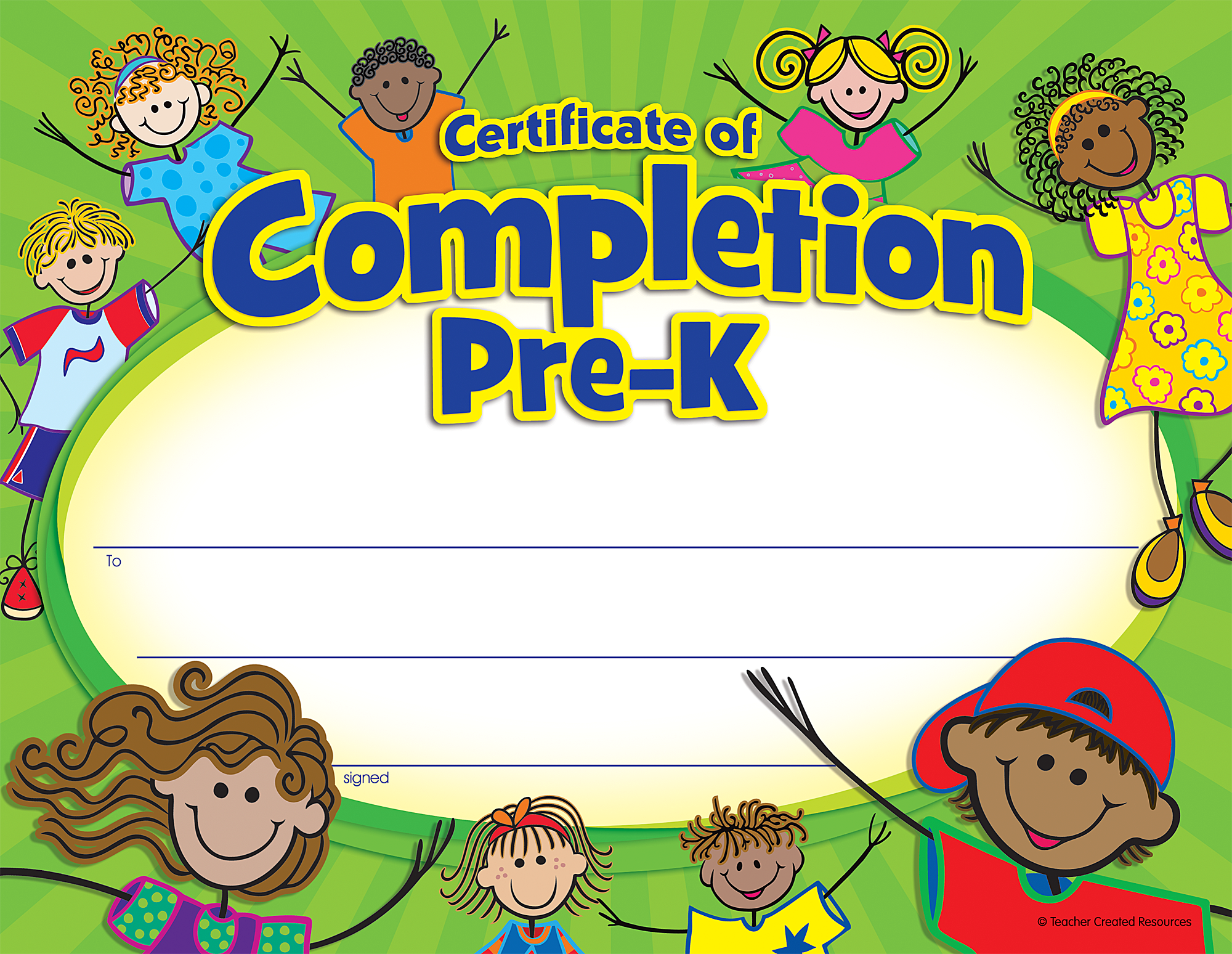 Pre-K Certificate of Completion - TCR4588 | Teacher Created Resources