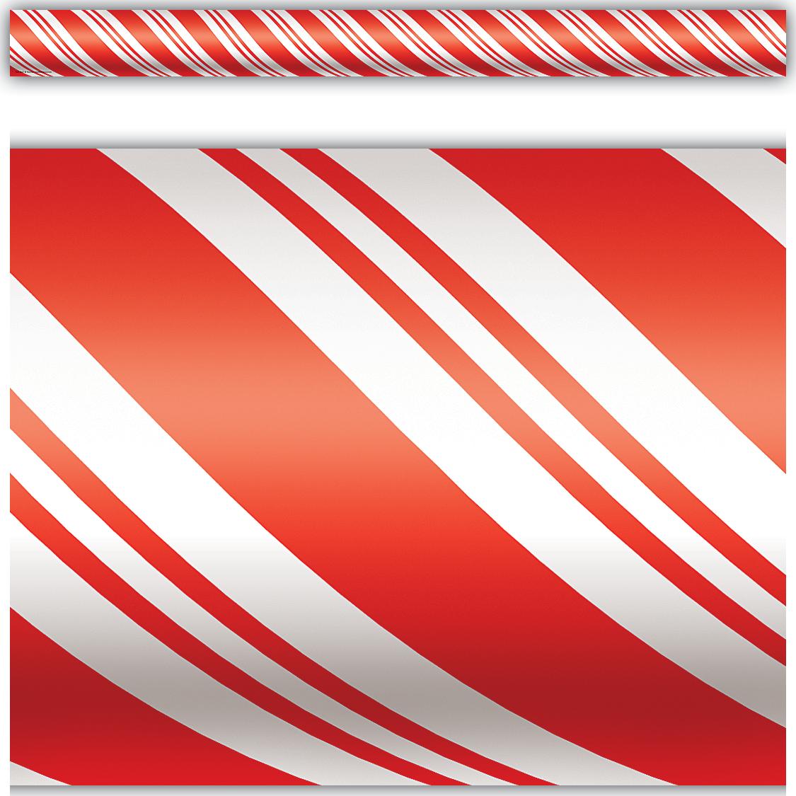 Candy Cane Straight Border Trim Tcr4667 Teacher