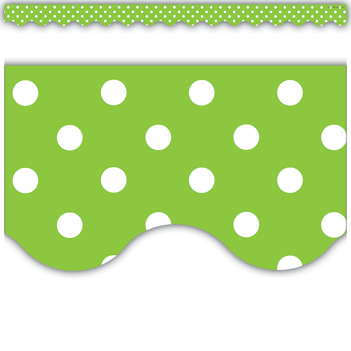 lime polka dots scalloped border trim tcr4669 teacher created resources