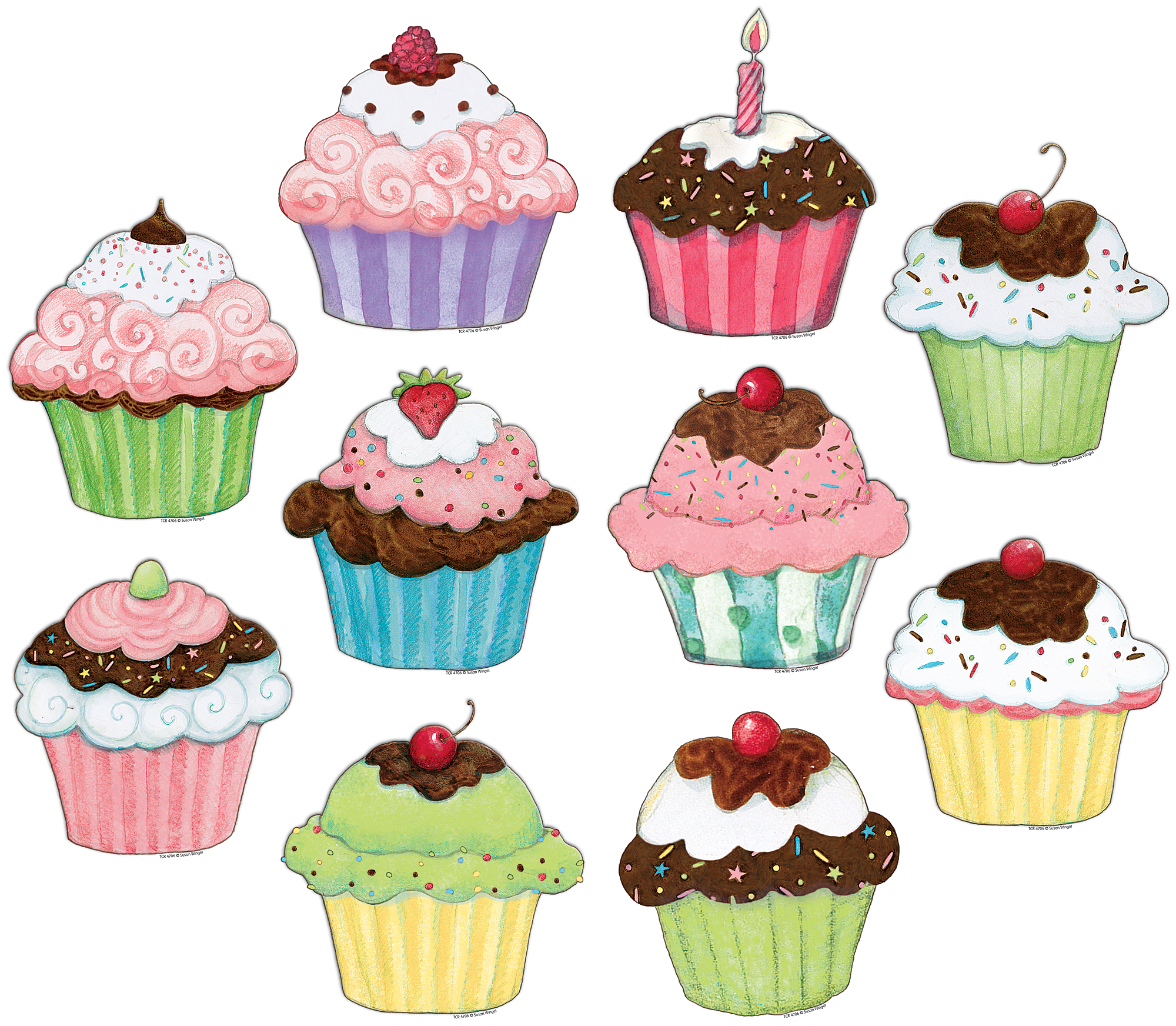 Cupcakes Accents From Susan Winget Tcr4706 Teacher