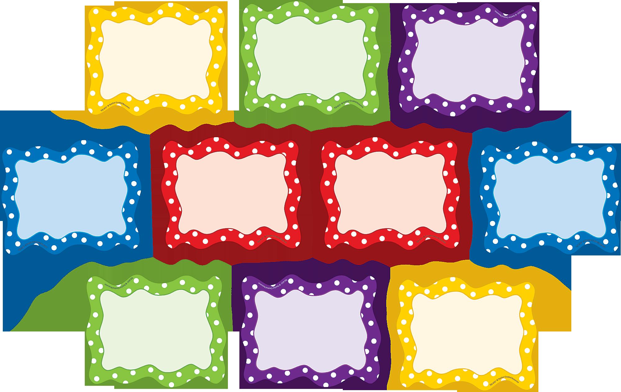 Polka Dots Blank Cards Accents Tcr4757 Teacher Created